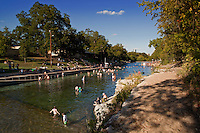Barton Springs Pool is a nationally recognized natural swimming pool lies in the historic Zilker Park in Texas, Austin