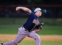 Lake Brantley Patriots pitcher Mike Ruff (23) during a game against the Lake Mary Rams on April 2, 2015 at Allen Tuttle Field in Lake Mary, Florida.  Lake Brantley defeated Lake Mary 10-5.  (Mike Janes/Four Seam Images)