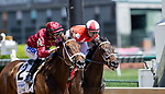 April 30, 2021 : Shedaresthedevil, #2, ridden by jockey Florent Geroux wins the La Troienne Stakes on Kentucky Oaks Day at Churchill Downs on April 30, 2021 in Louisville, Kentucky. Carolyn Simancik/Eclipse Sportswire/CSM