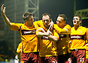 :: MOTHERWELL'S FRANCIS JEFFERS CELEBRATES AFTER HE SCORED THE THIRD ::.29/03/2011   sct_jsp014_motherwell_v_dundee_utd     .Copyright  Pic : James Stewart.James Stewart Photography 19 Carronlea Drive, Falkirk. FK2 8DN      Vat Reg No. 607 6932 25.Telephone      : +44 (0)1324 570291 .Mobile              : +44 (0)7721 416997.E-mail  :  jim@jspa.co.uk.If you require further information then contact Jim Stewart on any of the numbers above.........