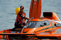 "Bob Sovie helps his son, Joe Sovie, GP-79 ""Bad Influence"", prepare to race. (Grand Prix Hydroplane(s)"
