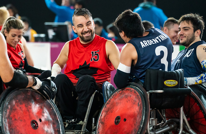 Patrice Simard, Lima 2019 - Wheelchair Rugby // Rugby en fauteuil roulant.<br /> Canada takes on Argentina in wheelchair rugby // Le Canada affronte l'Argentine au rugby en fauteuil roulant. 23/08/2019.