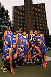"""The """"Skip to my Lou"""" squad on September 1, 2006 at Rucker Park in New York, New York.  Pictured standing left to right are DeAndre Jordan, Tyreke Evans, Devin Ebanks, Anthony Randolph, Jerryd Bayless, Lance Stephenson, Cole Aldrich, Gary Johnson and Nolan Smith.  Pictured squatting left to right are Michael Beasley, Senario Hillman and Austin Freeman.  The players were in town for the Elite 24 Hoops Classic, which brought together the top 24 high school basketball players in the country regardless of class or sneaker affiliation."""