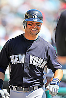 8 March 2011: New York Yankees' outfielder Nick Swisher prepares to go to bat during a Spring Training game against the Atlanta Braves at Champion Park in Orlando, Florida. The Yankees edged out the Braves 5-4 in Grapefruit League action. Mandatory Credit: Ed Wolfstein Photo