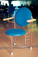 F.L. Wright: Chair in S.C. Johnson & Son Administration Building.  Photo '77.