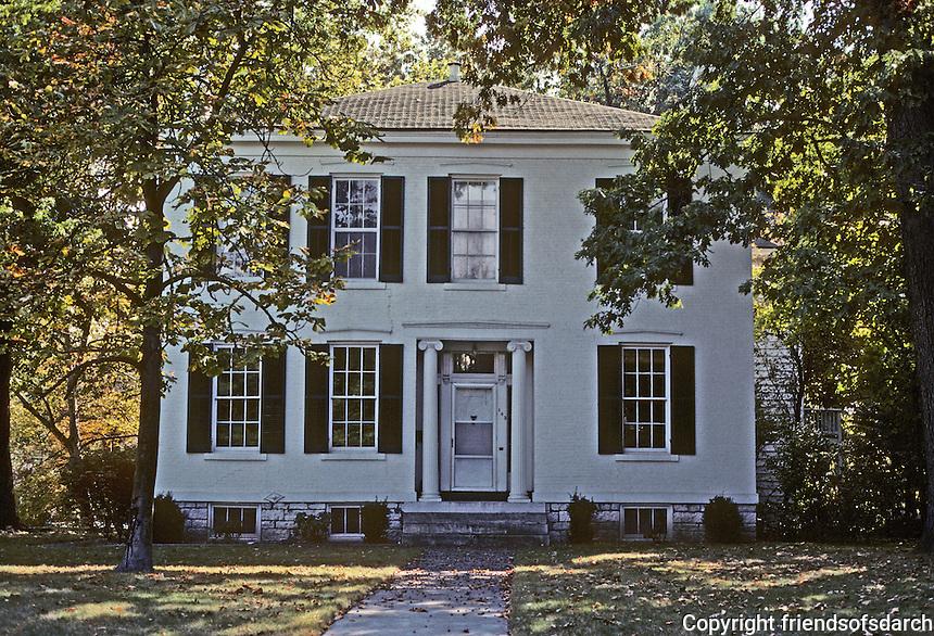 Alton: Phinney House, 445 E. 12th St., 1854. Transitional Georgian-Federal style. Photo '77.