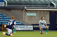 Players take the knee before Millwall vs Blackburn Rovers, Sky Bet EFL Championship Football at The Den on 14th July 2020