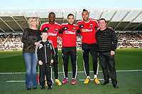 Saturday 2nd March 2013<br /> Pictured: (L-R) Roland Lamah, Itay Shechter, Kyle Bartley.<br /> Re: Barclays Premier Leaguel, Swansea  v Newcastle at the Liberty Stadium in Swansea.
