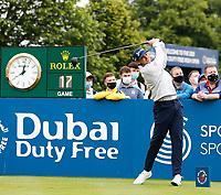 2nd July 2021; Mount Juliet Golf Club, Kilkenny, Ireland; Dubai Duty Free Irish Open Golf, Day Two; John Catlin of the USA tees off on the 10th hole