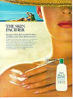 Jergens lotion print ad, Cunningham & Walsh, 1982. Photo by John G. Zimmerman.