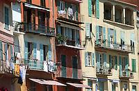 Europe/France/Provence-Alpes-Côte d'Azur/06/Alpes-Maritimes/Villefranche sur Mer: Façades de maisons sur le port