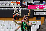 Liga ENDESA 2019/2020. Game: 07.<br /> Club Joventut Badalona vs TD Systems Baskonia: 83-82.<br /> Luca Vildoza vs Nemed Dimitrijevic.