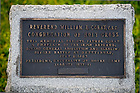 June 22, 2013; Plaque next to the statue of former Notre Dame president Rev. William Corby, C.S.C., Chaplain of the Irish Brigade, in Gettysburg National Military Park.<br /> <br /> Photo by Matt Cashore/University of Notre Dame