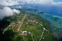 Palau Oct 2007, Aerial over the international Airport in Palau, Micronesia