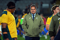Wallabies coach Dave Rennie during the Bledisloe Cup rugby match between the New Zealand All Blacks and Australia Wallabies at Eden Park in Auckland, New Zealand on Saturday, 7 August 2021. Photo: Dave Lintott / lintottphoto.co.nz