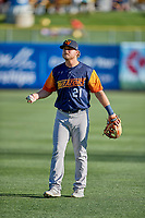 Sheldon Neuse (21) of the Las Vegas Aviators before the game against the Salt Lake Bees at Smith's Ballpark on July 20, 2019 in Salt Lake City, Utah. The Aviators defeated the Bees 8-5. (Stephen Smith/Four Seam Images)