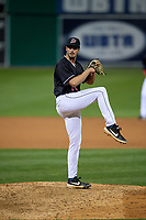 Batavia Muckdogs pitcher Andrew Nardi (36) during a NY-Penn League game against the Auburn Doubledays on August 31, 2019 at Dwyer Stadium in Batavia, New York.  Auburn defeated Batavia 12-5.  (Mike Janes/Four Seam Images)