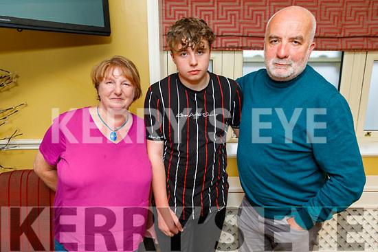 The O'Sullivan family from Tralee, enjoying the evening in the Brogue Inn on Sunday.<br /> L to r: Joseph, Joe and Paula O'Sullivan