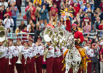 Florida State mascot Osceola riding Renegade leads the team onto the field before an NCAA college football game against Florida in Tallahassee, Fla., Saturday, Nov. 24, 2018. (AP Photo/Mark Wallheiser)