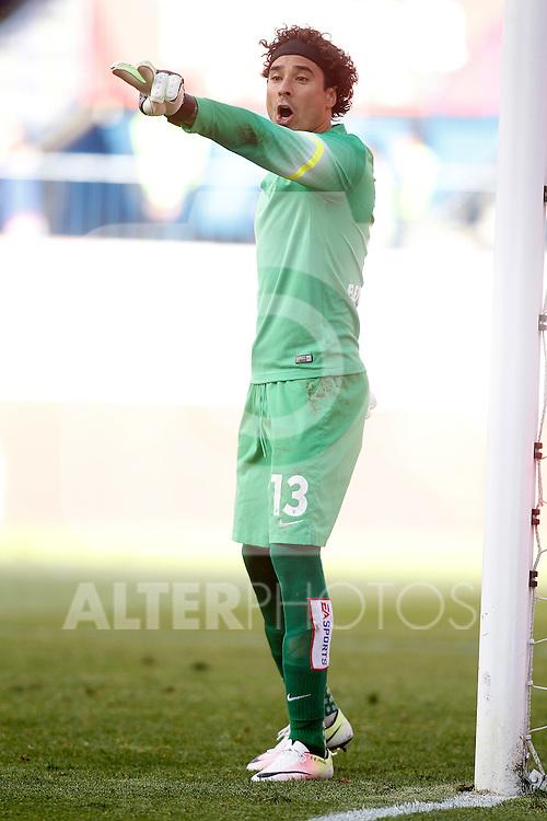 Malaga CF's Guillermo Ochoa during La Liga match. April 23,2016. (ALTERPHOTOS/Acero)