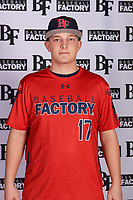 Joe Wozny (17) of The Stony Brook School in Lake Grove, New York during the Baseball Factory All-America Pre-Season Tournament, powered by Under Armour, on January 12, 2018 at Sloan Park Complex in Mesa, Arizona.  (Mike Janes/Four Seam Images)
