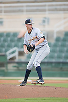 Charleston RiverDogs relief pitcher Cody Carroll (37) in action against the Kannapolis Intimidators at Kannapolis Intimidators Stadium on August 3, 2016 in Kannapolis, North Carolina.  The Intimidators defeated the RiverDogs 8-4.  (Brian Westerholt/Four Seam Images)