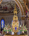 April 10, 2021; High altar in the Basilica of the Sacred Heart (Photo by Matt Cashore/University of Notre Dame)