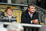 St Johnstone v Aberdeen....18.08.12   SPL.Paul Lawrie watches the game with his son Michael.Picture by Graeme Hart..Copyright Perthshire Picture Agency.Tel: 01738 623350  Mobile: 07990 594431