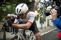 Fabian Cancellara (SUI/TREK Factory Racing) after finishing<br /> <br /> 106th Milano - San Remo 2015