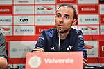 Alejandro Valverde (ESP) Movistar Team at the Top Riders press conference for the UAE Tour 2020 held at<br /> Westin Dubai Mina Seyahi, Dubai. 22nd February 2020.<br /> Picture: LaPresse/Massimo Paolone | Cyclefile<br /> <br /> All photos usage must carry mandatory copyright credit (© Cyclefile | LaPresse/Massimo Paolone)