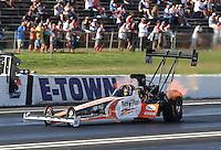Jun. 1, 2013; Englishtown, NJ, USA: NHRA top fuel dragster driver Clay Millican during qualifying for the Summer Nationals at Raceway Park. Mandatory Credit: Mark J. Rebilas-