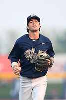 First overall draft pick in the 2015 Major League Baseball Player Draft, Dansby Swanson (7) of the Hillsboro Hops returns to the dugout during a game against the Boise Hawks at Ron Tonkin Field on August 22, 2015 in Hillsboro, Oregon. Boise defeated Hillsboro, 6-4. (Larry Goren/Four Seam Images)