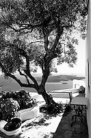 Cycladic white balcony
