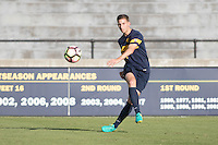 BERKELEY, CA - October 13, 2016: Joshua Morton kicks the ball. Cal played UCLA at Edwards Stadium.