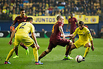 Radja Nainggolan of AS Roma fights for the ball during the match Villarreal CF vs AS Roma, part of the UEFA Europa League 2016-17 Round of 32 at the Estadio de la Cerámica on 16 February 2017 in Villarreal, Spain. Photo by Maria Jose Segovia Carmona / Power Sport Images