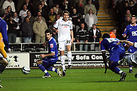 Pictured: Angel Rangel of Swansea City in action <br /> Re: Coca Cola Championship, Swansea City Football Club v Birmingham City at the Liberty Stadium, Swansea, south Wales Friday 21 November 2008.<br /> Picture by D Legakis Photography (Athena Picture Agency), Swansea, 07815441513