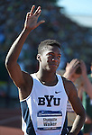 12 JUNE 2015:  during the Division I Men's and Women's Outdoor Track & Field Championship held at Hayward Field in Eugene, OR.  Steve Dykes/ NCAA Photos