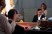 UK. London. 28th June  2010.Matt LeBlanc in make up before a publicity shoot for his new tv show Episodes..©Andrew Testa for the New York Times