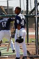 Luis Martinez  - San Diego Padres - 2009 spring training.Photo by:  Bill Mitchell/Four Seam Images