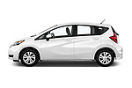 Car driver side profile view of a 2018 Nissan Versa Note S 5 Door Hatchback