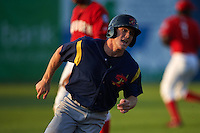 State College Spikes outfielder Harrison Bader (41) rounds third during a game against the Auburn Doubledays on July 6, 2015 at Falcon Park in Auburn, New York.  State College defeated Auburn 9-7.  (Mike Janes/Four Seam Images)