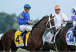 September 22, 2012. Alpha, Ramon Dominguez up, joins the post parade for the Pennsylvania Derby. Handsome Mike, ridden by Irad Ortiz Jr. and trained by Leandro Mora, wins the Gr. II Pennsylvania Derby at Parx Racing in Bensalem, Pennsylvania. (Joan Fairman Kanes/Eclipse Sportswire)