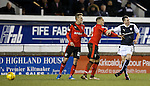 James Tavernier and Louis Longridge aggro after an incident from the Raith man