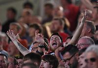 11th September 2021; Brentford Community Stadium, London, England;  Premier League football, Brentford versus Brighton Athletic; fans anticipate the start of the match