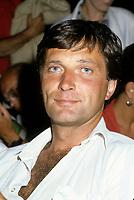 Serge Arsenault<br /> , juillet 1985<br /> <br /> PHOTO : Agence Quebec Presse