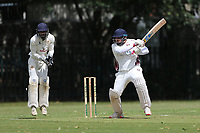 Khan in batting action for Barking during Barking CC (batting) vs Hornchurch Athletic CC, Hamro Foundation Essex League Cricket at Mayesbrook Park on 31st July 2021