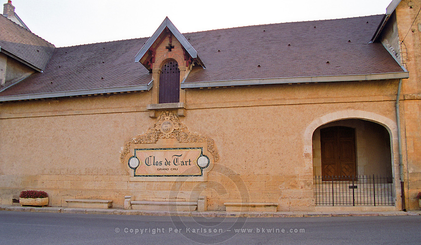 Clos de Tart vineyard and cellars in Morey Saint Denis belonging to Mommessin, Bourgogne