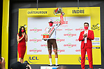 Greg Van Avermaet (BEL) AG2R Citroen Team wins the days combativity prize at the end of Stage 6 of the 2021 Tour de France, running 160.6km from Tours to Chateauroux, France. 1st July 2021.  <br /> Picture: A.S.O./Charly Lopez | Cyclefile<br /> <br /> All photos usage must carry mandatory copyright credit (© Cyclefile | A.S.O./Charly Lopez)