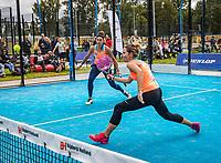 Netherlands, September 6,  2020, Amsterdam, Padel Dam, NK Padel, National Padel Championships, Womans doubles:  Chayenne Ewijk (NED) and Rosalie van der Hoek (NED) (L)<br /> Photo: Henk Koster/tennisimages.com