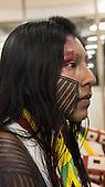 Nhaka-ê Kayapo, a woman from Gorotire village in Para State at the International Indigenous Games in Palmas, Tocantins State, Brazil.